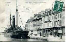"""N°4740A -cpa Saint Valéry En Caux -""""Ituna"""" à Quai- - Commerce"""