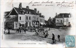 ¤¤ - BEAUMONT-sur-SARTHE - Place D'Armes - Course Cycliste En 1906 -    -Y- - Beaumont Sur Sarthe