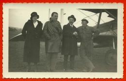 PHOTO Photographie - AVIATION - Probablement à 78 BUC Yvelines - Louis Massotte Entre Mme Et M. Louis Blériot ? - Aviation