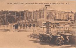 PERROS GUIREC  ( 22 ) Le Casino Et Un Coin De La Terrasse De L'hôtel De La Plage  ( Port Gratuit  ) - Perros-Guirec