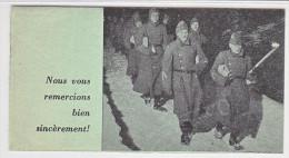 """DOS DE RECEPISSE- 13.12.1944- AVECIMAGES MILITAIRE ET """"NOUS VOUS REMERCIONS BIEN SINCEREMENT. - Suisse"""
