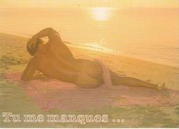 Naturiste Au Couché Du Soleil - Nus Adultes (< 1960)