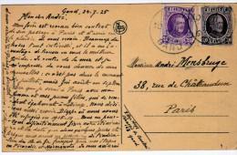 2578    Postal Bélgica ,Gand 1925 - Bélgica