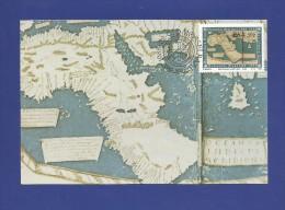 RSA 1988 ,  Maximum Card - Martellus-Kaart/Map 1489 - First Day 1988-02-03 - Otros