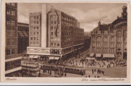 ALLEMAGNE,GERMANY,DEUTSCH LAND,BERLIN En 1933,DER NEUE ALEXANDERPLATZ,tramway,bu S,gare - Unclassified