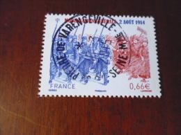OBLITERATION RONDE  SUR TIMBRE GOMME ORIGINE YVERT N° 4889  Mobilisation Generale - Frankreich