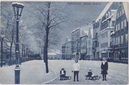 ALLEMAGNE,GERMANY,DEUTSCH LAND,BAVIERE,AUGSBURG,AUG SBOURG EN 1911,Souabe,luge,oberer Graben,glace,neige - Augsburg