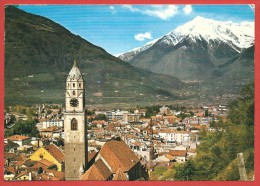 CARTOLINA VG ITALIA - MERANO (BZ) - Alto Adige - Panorama - 10 X 15 - ANNULLO TARGHETTA 1981 - Merano