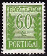 PORTUGAL -1940, (PORTEADO)  Tipo «Algarismo Ladeado De Ramos» 60 C.  P. Liso  D.12 1/2  * MH  Afinsa  Nº 60 - Nuevos