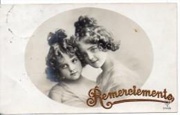 Carte De Remerciements - Portrait De Deux Adolescentes - Tarjetas De Fantasía