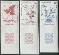Polynesie RF 1988. Michel #515/17 MNH/Luxe. Plants. Imperf. (TS02) - Non Dentelés, épreuves & Variétés