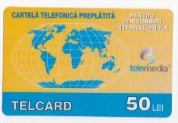 Moldova  , Telcard , TELEMEDIA ,  Telephone Card  , 50 Lei   ;   RARE , Plastic , Used - Telecom Operators