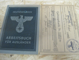 3. Reich Arbeitsbuch Für Ausländer, Junger Mann  Aus Frankreich - Documenti Storici