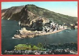 CARTOLINA VG ITALIA - PORTOVENERE - Golfo Di LA SPEZIA - Panorama - 10 X 15 - ANNULLO 19?? - La Spezia