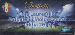 Moldova , Moldavie , 2013 , Invitation , Moldovan Football Gala - Sports