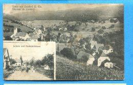 AVR257, Gruss Aus Luxdorf O. Els, Souvenir De Luxdorf, Schule Und Gemeindehaus,6128,  Circulée 1908 - Elsass