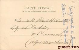 """2 CPA : AUTOGRAPHE DEDICACE EMILE DURAND AUTEUR DU """" BINIOU """" CHANSON BRETONNE ARTISTE NEUILLY-SUR-SEINE 1900 - Chanteurs & Musiciens"""