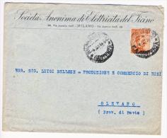 Lettera In Tariffa Con Michetti 20 C. Senza Filigrana - Storia Postale