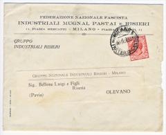 Stampe Affrancate Con Leoni 10 Cent. Isolato - Federazione Nazionale Fascista - Storia Postale