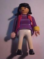 1 FIGURINE FIGURE DOLL PUPPET DUMMY TOY IMAGE POUPÉE - WOMAN PLAYMOBIL GEOBRA 1990 - Playmobil
