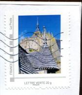 Collector Le Mont Saint Michel (o) - Lettre Verte 20g - France