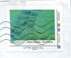 """Collector """"Parcs à Huitres - Ile D'Oléron"""" (o) - Lettre Verte 20g - France"""