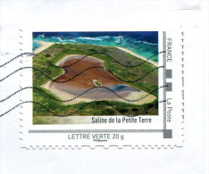 "Collector ""Saline De La Petite Terre"" (o) - Lettre Verte 20g - France"
