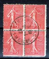 """Bloc De 4 N° 129c°_""""AMIENS-CHARGEMENT"""" - 1903-60 Semeuse Lignée"""