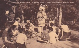 Words Of Wisdom From The Indian Chief Camp Thunderbird Bemidji Minnesota Artvue - Scouting