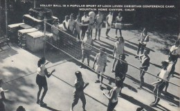 Volley Ball Is A Popular Sport At Loch Leven Christian Conference Camp Mountain Home Canyon California Artvue - Scouting