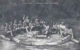 Fun Around A Campfire Camp Sacajawea Artvue - Scouting