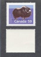 Canada Musk Mammal Buffalo Definitive  #1174a SP Perf 13.1 GT4  Year 1989  MNH - 1952-.... Reign Of Elizabeth II