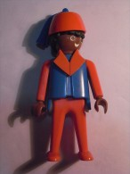 1 FIGURINE FIGURE DOLL PUPPET DUMMY TOY IMAGE POUPÉE - MAN HAT PLAYMOBIL GEOBRA 1974 - Playmobil