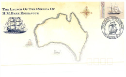 (198) Australia FDC Cover - 1992 - Ships Endeavour Replica Launch - Primo Giorno D'emissione (FDC)