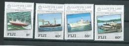 Fiji 1984 Lloyds Of London Shipping & Insurance Set 4 MNH - Fiji (1970-...)