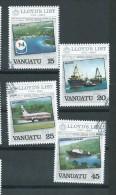 Vanuatu 1984 Lloyds Of London Shipping & Insurance Set 4 FU - Vanuatu (1980-...)