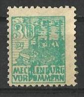 ERROR  Color? - Germany Berlin MECKLENBURG Mi# 39 , Soviet Zone  1946 - Zone Soviétique