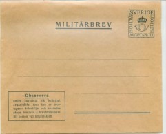 Sweden > Military  MILITÆRBREV Unused - Militärmarken