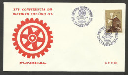 Portugal Cachet Commémoratif Rotary Madère Madeira 1971 Event Postmark - Rotary Club