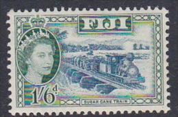 Fiji 1956 Queen Elizabeth II Definitive 1s And 6 P Sugar Cane Train MNH - Fiji (1970-...)