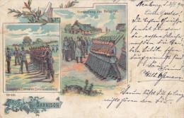 1900 D. Reich, MILITARIA EF. BESSERE Karte Gruss aus der Garnison. Neuburg/Tischenreuth. MK