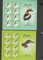 O) 2009 QATAR, BIRDS, MINISHEET FOR 6, MNH - Qatar