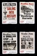 Australia 2013 Headline News Set Of 4 Self-adhesives Used - - - Oblitérés