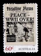 Australia 2013 Headline News 60c Peace - World War II Over Self-adhesive Used - 2010-... Elizabeth II