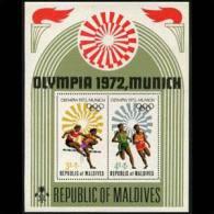 MALDIVES 1972 - Scott# 411 S/S Olympics MNH (XM366) - Malediven (1965-...)