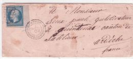 1859- enveloppe cad Corps expeditionnaire d'Italie-2� division affr. n�14 bord de feuille oblit. grille