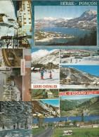 Cp , 05 , Hautes Alpes, Ancelle, Villeneuve La Salle, Serre Ponçon, Embrun, Chorges, Col D'Izoard... LOT DE 9 CP Du 05 - Postcards