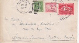 OLYMPISCHE SPIELE-OLYMPIC GAMES, USA, 1932, Special Stamps + Postmark - Forwarded Letter !! - Winter 1932: Lake Placid