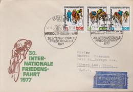 Sp 611) DDR Mi# 2216-18 FDC In USA: SSt Berlin 1977: 30. Friedensfahrt Radrennen - Ciclismo