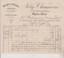 (SAONE ET LOIRE )CHALON-SUR-SAONE ,chapeaux Feutre Et Paille, Manufacture De Casquettes , JOLY-CHAMOIN - 1800 – 1899